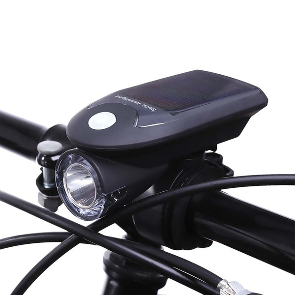 best selling USB Rechargeable Solar Energy Bicycle Front Head Flashlight Mountain Bike Solar Powered Front Light Bike Light for Cycling