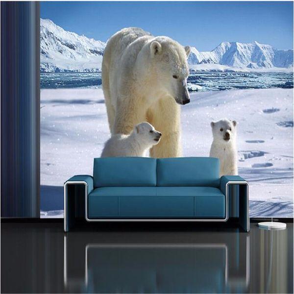 Fondos de pantalla personalizados Alta Calidad Encantador Iceberg Oso Polar Salón Sofá Mural Moderno Hogar Fondo Decorativo