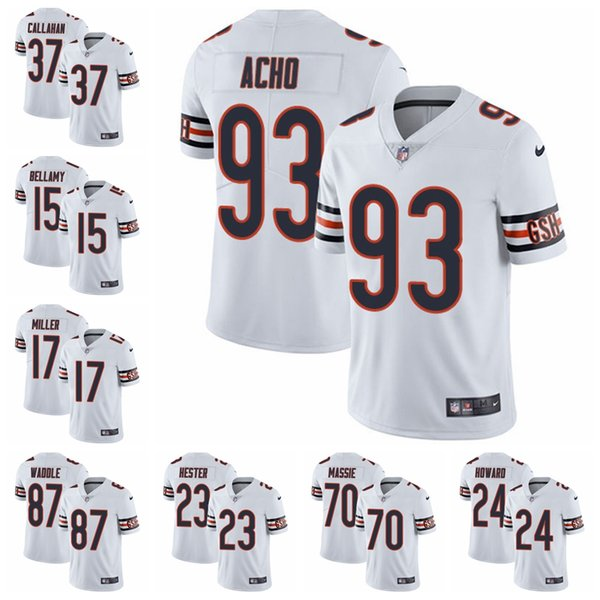 buy online 53f03 cca8f 2019 Chicago Limited Road Football Jersey Bears White Vapor Untouchable 52  Khalil Mack 10 Mitchell Trubisky 54 Brian Urlacher 1 From Mimijersey, ...