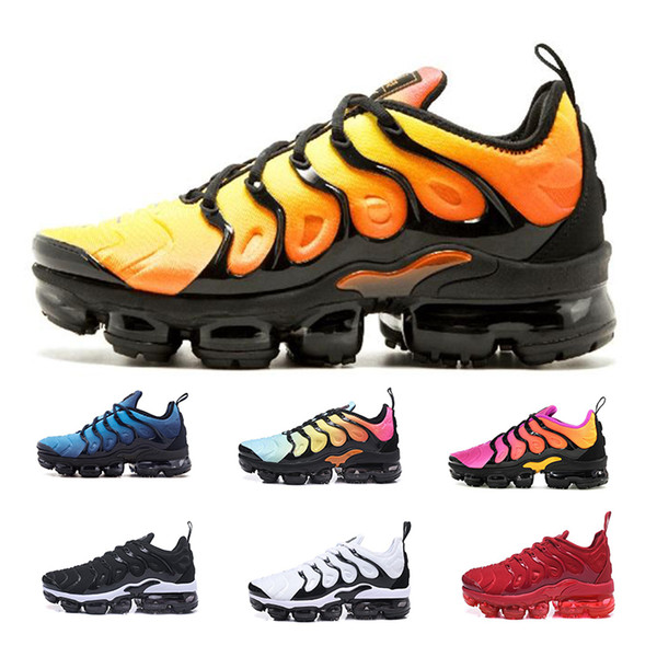 new product 7234a bd398 Vapormax TN Plus Running Shoes Classic Outdoor Run Shoes Black White Requin  Olive Silver In Vapor Tn Trainers Sports Athletic Sneakers Online Shoes ...