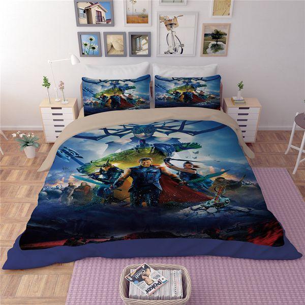 New The Avengers Hero Comforter Bedding Sets Captain America Bedroom ...