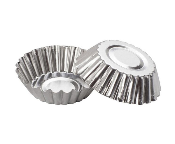 MINI Disposable Flower Style Aluminum Foil Cupcake Muffin Cups Egg Tart Cup Egg Tart Mold Baking Cooking Molds SN719