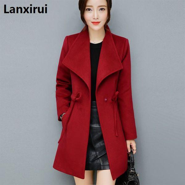 Günstige Großhandel 2018 neue Herbst Winter Heißer Verkauf Damenmode beiläufige warme Jacke weibliche bisic Mäntel 4XL