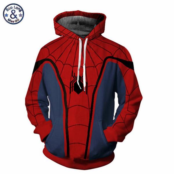 The 3 Ant Man Iron Man Spider Hoodies Sweatshirt 3D Hoodies Long Sleeve Outwear Male Jacket Pullover Fall