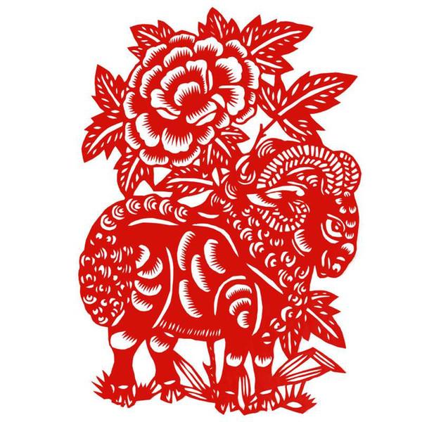 La vetrata realizzata a mano in carta presenta in Cina un piccolo dono di regali per la decorazione del festival di primavera