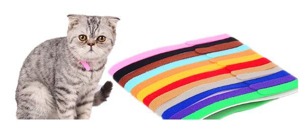 Puppy ID Identification Collars Adjustable Nylon Small Pet Dog Collars Kitten Necklace Whelping Puppy Collars 12PCS