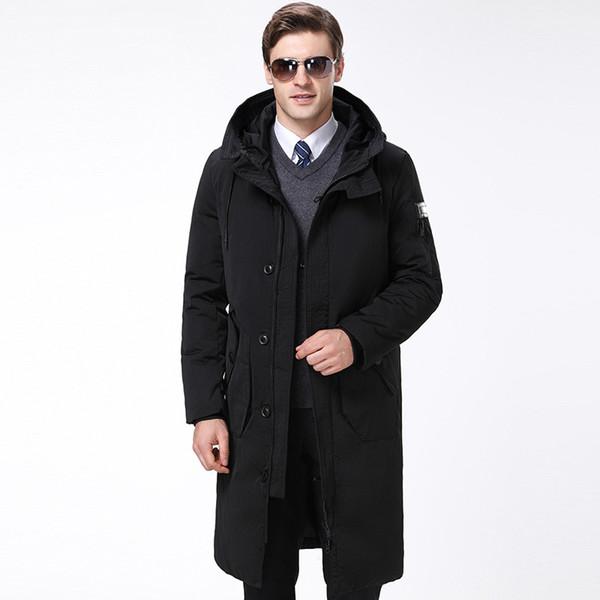 De gama alta famosa marca de negocios autocultivo de gama alta de los hombres abrigo de invierno grueso delgado delgado sin capucha de invierno hombres abajo chaqueta