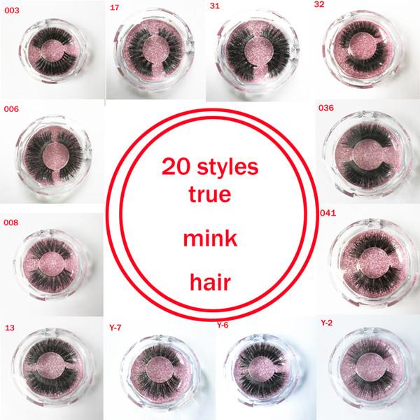 fake lashes real Mink Hot sell 100% Strip False Eyelash Long Individual Eyelashes Mink Lashes free shipping GR172