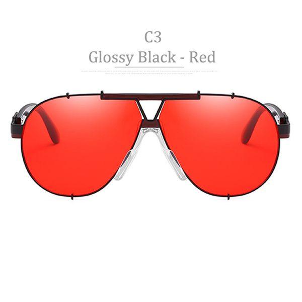 C3 Glosssy Black Frame Red Lens