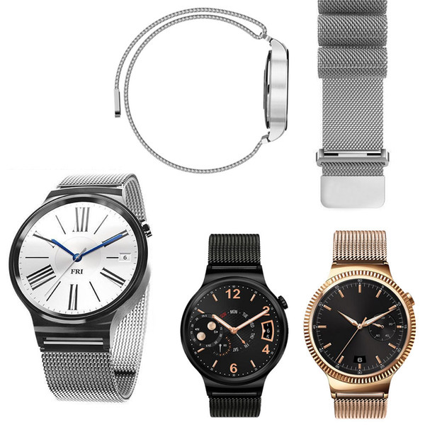 Stainless Steel Milanese Loop Metal Smart Watch Band Magetic Closure Milanese Band for Huawei Watch HWMLMCS