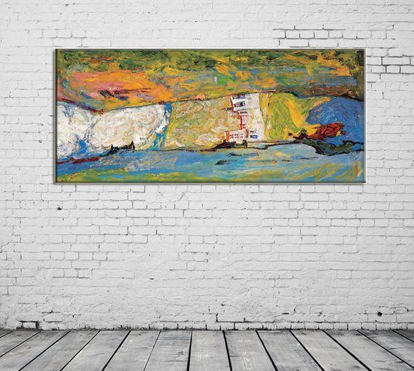 ZYXIAO Poster Und Drucke Abstrakte Burg Landschaft Moderne Ölgemälde  Leinwand Kein Rahmen Wandbilder Für Wohnzimmer Dekoration