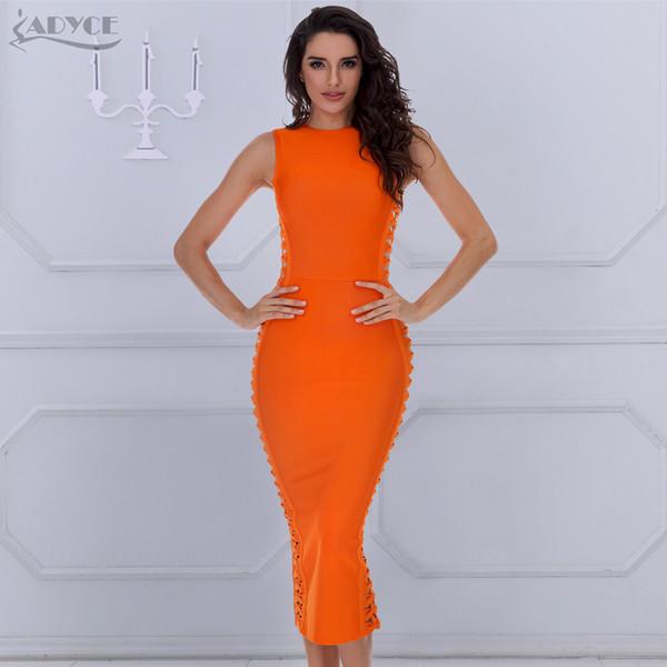 ADYCE 2018 новый летний элегантный повязку платье женщины Сексуальная знаменитость платье Bodycon взлетно-посадочной полосы платье О-образным вырезом выдалбливают клуб Vestido Y1891307
