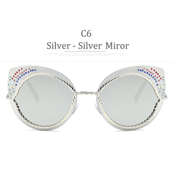 C6 Silver Frame Sikver Miror