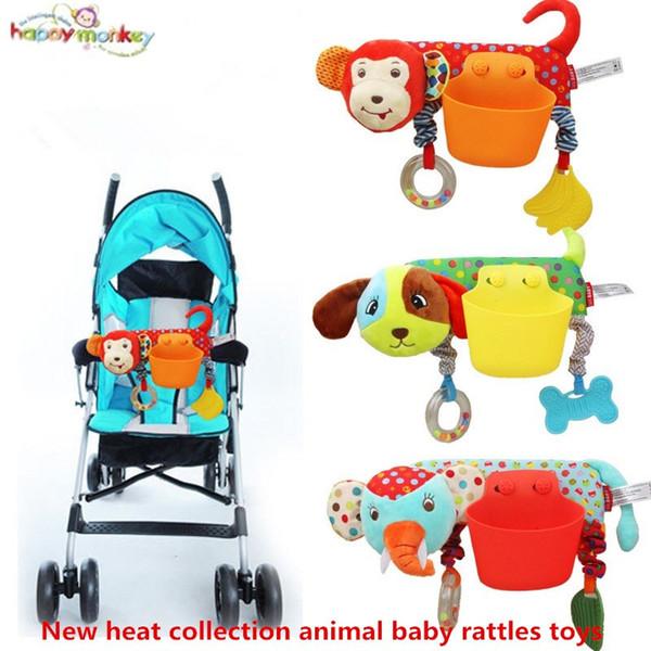 Plüsch Babyspielzeug Babybett dreht sich um das Bett Kinderwagen spielen Spielzeug Elefant Tier Krippe Drehmaschine hängen Baby Rasseln Mobile