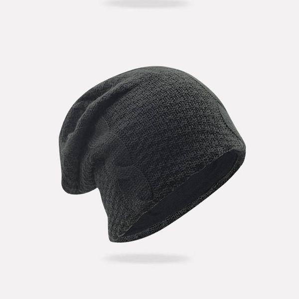 022a8601ebb Branded Hat For Women Men Winter baggy beanie Cap Crochet Warm Kniting  Cotton Hat bonnet homme