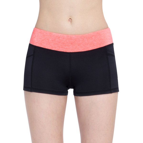 Vutru Women Pink Running Shorts Indoor Sports Shorts High Elasticity Sports Cropped Quick Dry Gym Fitness S/M/L/XL V7LA013C