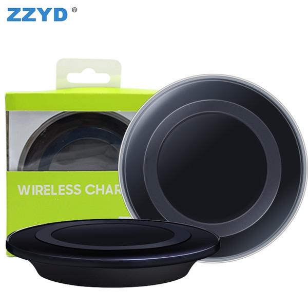ZZYD für iPhone X Samsung S8 Hinweis 8 Qi Wireless Charger Schnellladeadapter mit Kleinpaket USB-Kabel