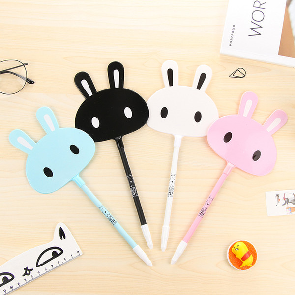 2 Pcs Creative Gel Pens cartoon rabbit black Ink Pen Promotional Cute Stationery Pens For Writting Office School Supplies Gift