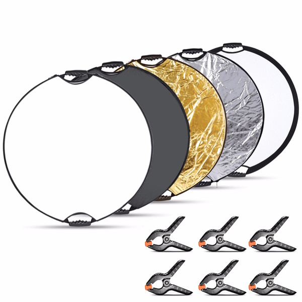 vendita all'ingrosso 5 in 1 Portable Round Lighting Reflector Disk Kit