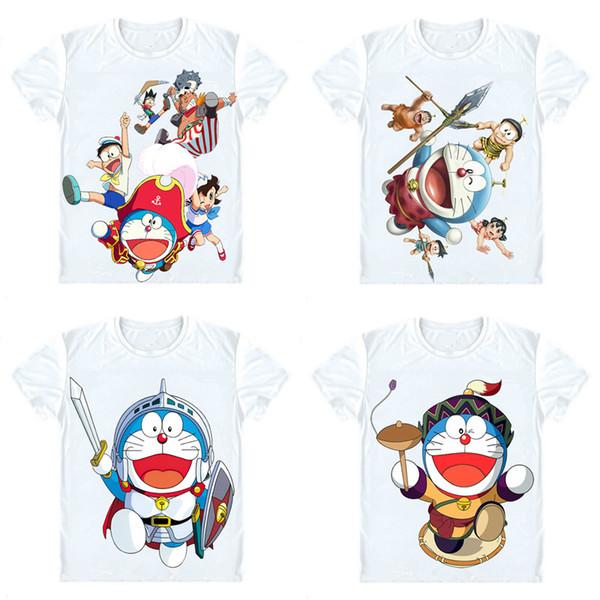 Doraemon T-Shirts Short Sleeve Shirts Anime Manga Fujiko Fujio Stand by Me Doraemon Nobita Nobi Shizuka Minamoto Cosplay Shirt