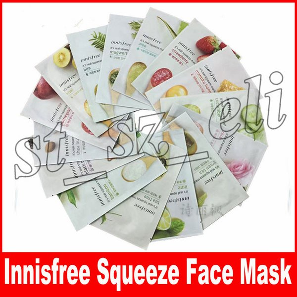 Innisfree Squeeze Mask Sheet Moisturising Face Skin Treatment Oil-control Facial Mask Peels Skin Care Mix Types