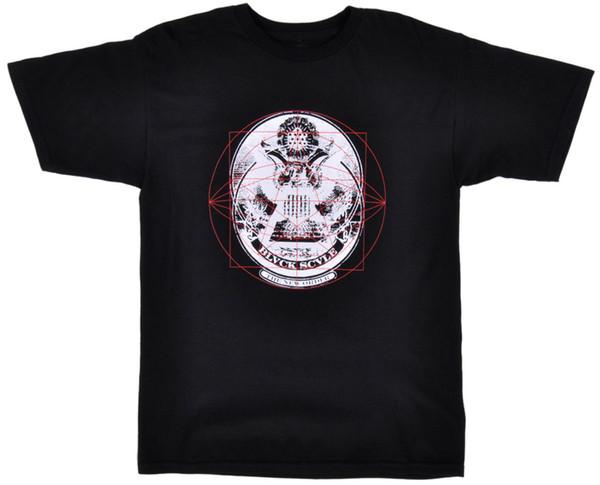 Черная шкала новый порядок футболка BLVCK SCVLE мужская оккультная мода топ черный