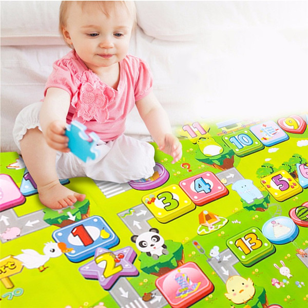 best selling 180x 150cm New Baby Double-Side Play Mat Kid Crawl Play Game Picnic Carpet Letter Alphabet Climb Blanket Crawling Pad