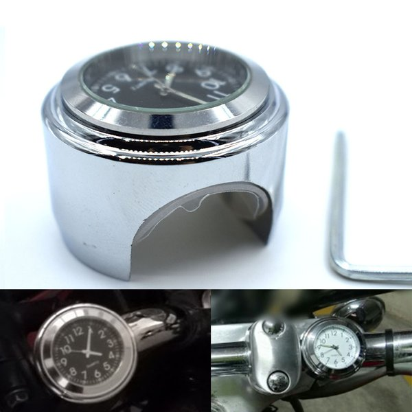 """For Car-Styling 7/8 """"CNC Motorcycle Handlebar Clock Motorcycle Top Mount Clock Fit For Harley Davidson Softail Sportste"""