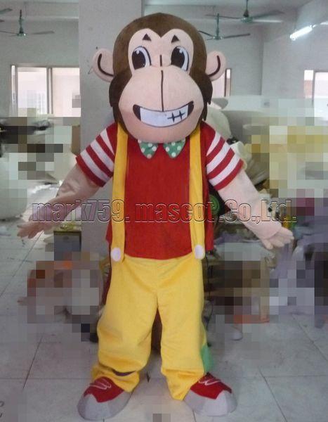 Bib monkey mascot costume Free Shipping Adult Size,simian mascot luxury plush toy carnival party celebrates mascot factory sales.