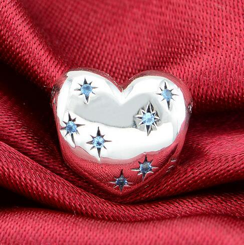 Cinderella Heart Charms Bead 925 Sterling Silver Jewelry Fits For Pandora Snake Chain Charm Bracelets Bangles