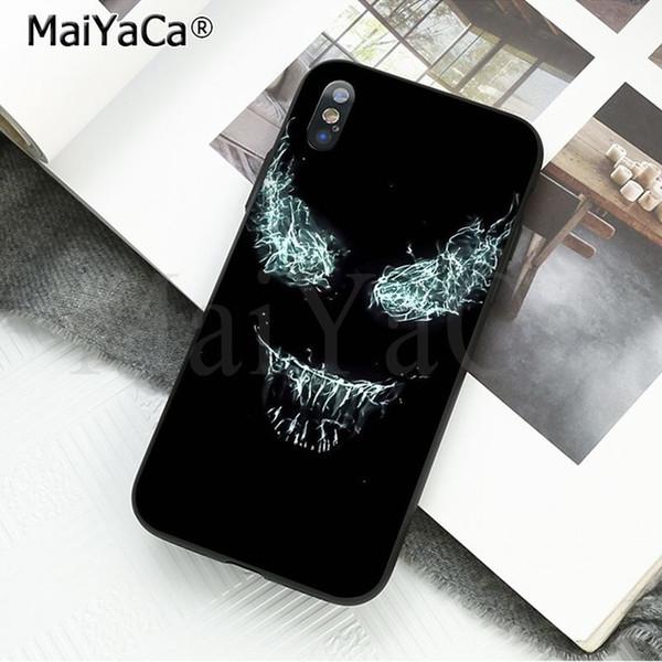Venom para iphone 6 6 s case capa, venom para iphone x xs samsung s7 s8 além de plástico rígido telefone case capa protetora