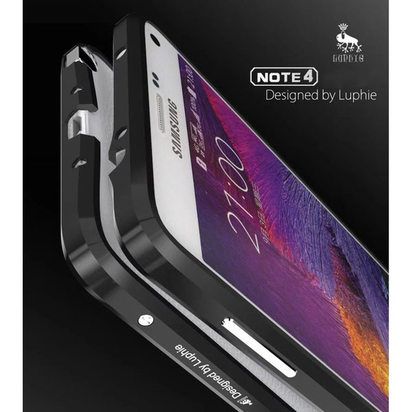 New Noble Luxury Bumper For Samung Galaxy Note 4 Aluminium Case For Samsung Note 4 N9100 Metal Bumper Case Advanced Alloy Frame