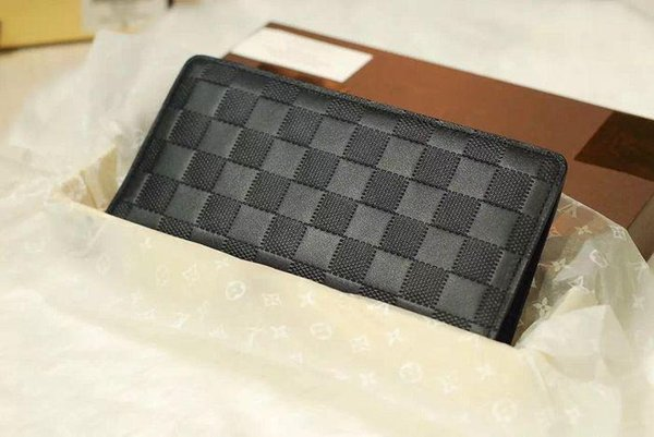 BRAZZA wallet Damier Infini leather jacket suit N63010 WALLETS OXIDIZED LEATHER CLUTCHES EVENING LONG CHAIN WALLETS COMPACT PURSE