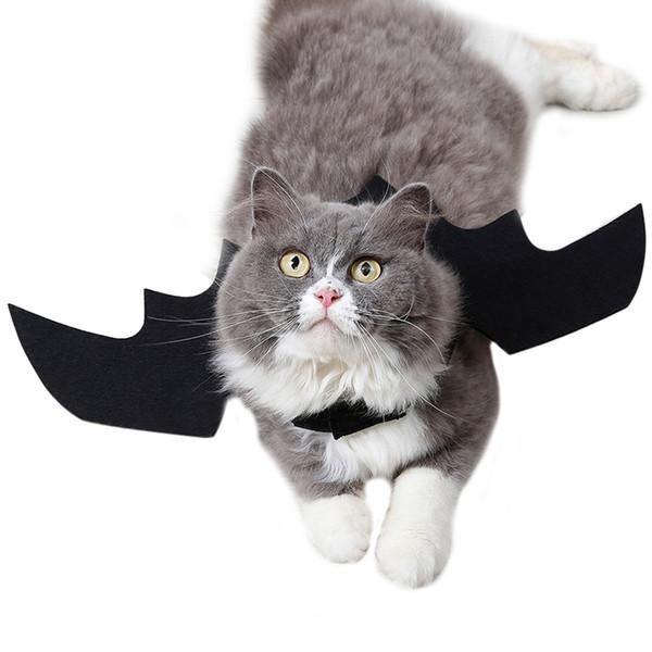 Alas de murciélago mascota de Halloween Disfraz de gato murciélago Perros de perrito Gatito Fiesta de Halloween Ropa de gato Suministros Productos para mascotas