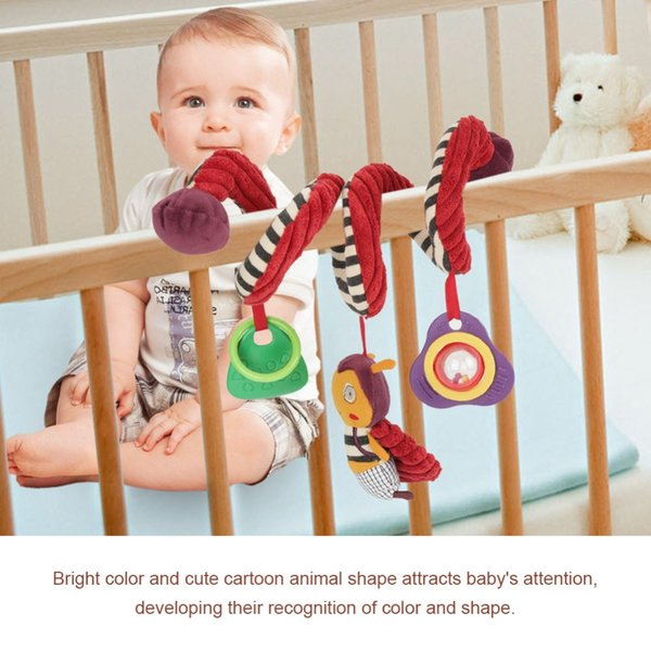 Cute Baby Crib Stroller Toy Rabbit Bunny Bear Bee Ladybird Soft Plush infant Doll Mobile Bed Pram kid Animal Stroller Plush Toy