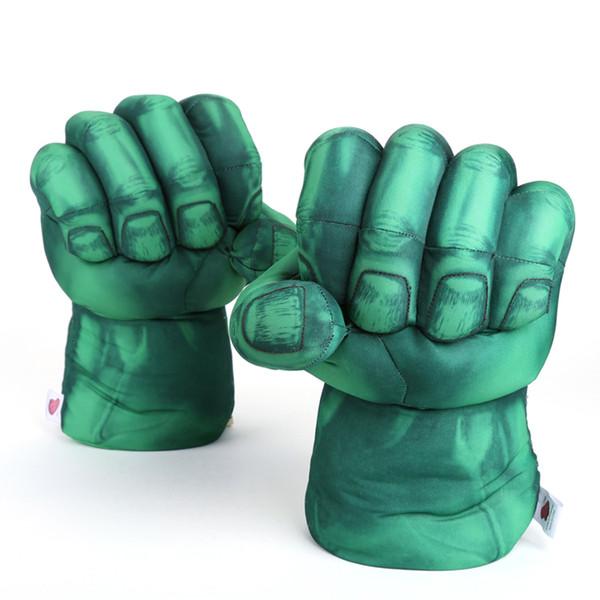 Marvel Super Hero Avengers Hulk Cosplay Gloves Plush Toy Soft Stuffed Doll