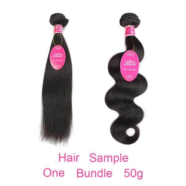 Trames de cheveux humains 50g Échantillon pour test de la qualité des cheveux un bundle péruvien malaisien indien brésilien