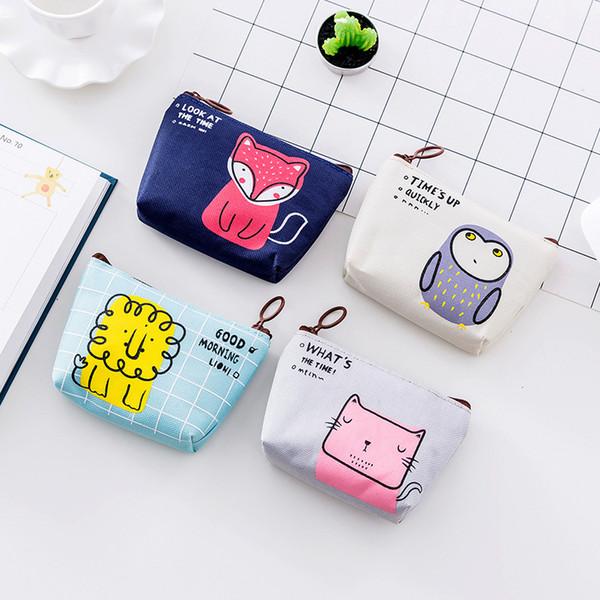Großhandel Koreanische Nette Geldbörse Guten Morgen Party Münze Schlüssel Aufbewahrungstasche Cartoon Dame Kleine Brieftasche Von Drdre 2072 Auf