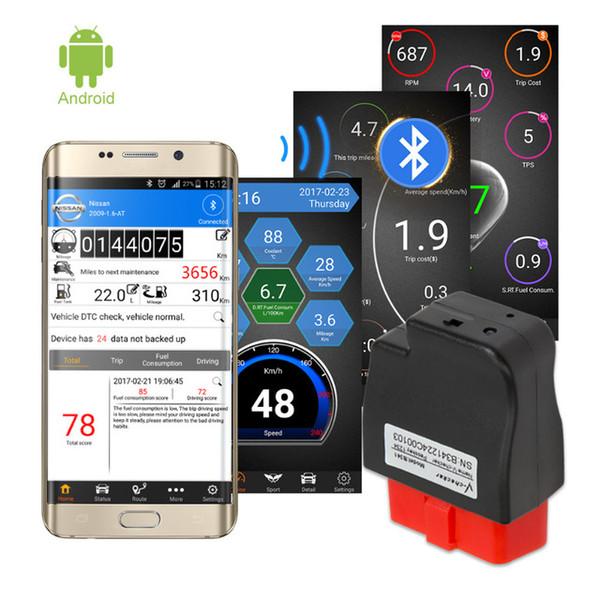 V-checker B341 OBD II Escáner Lector de código de fallas del motor del coche Herramienta de diagnóstico de diagnóstico CAN Bluetooth