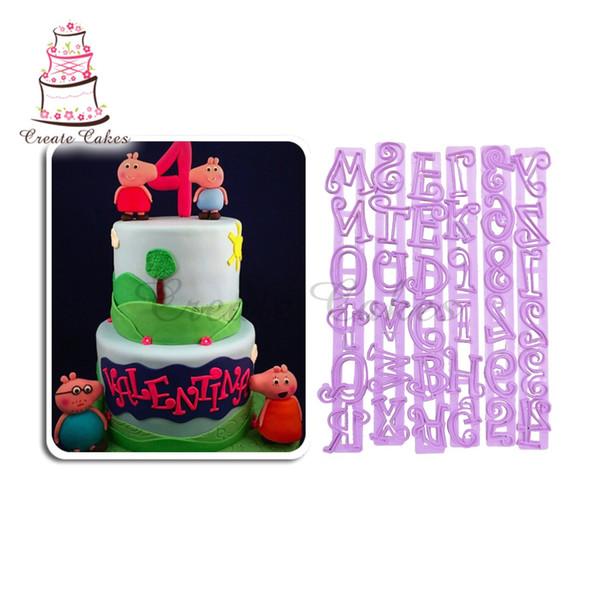 6 SATZ TAPPITS FUNKY OBERE Kuchen Cutter Buchstaben Präge Kunststoff Anzahl Fondant Kuchen Schablonen Dekoration LC-016