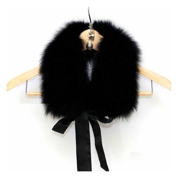 Winter Luxury Faux Fur Scarf Women Brand New 2018 All-match Warm Neck Fake Fur Collar Shawls and Wraps Ladies Scarves Stoles