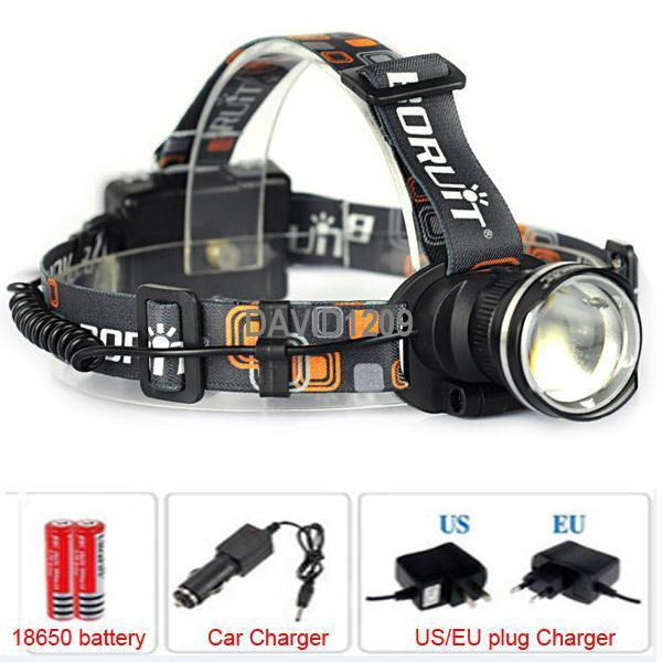 Hotest!Rechargeable 2000LM XM-L T6 LED Zoomable Headlamp Headlight 18650 Bike Bicycle Flashlight Head Light Outdoor Camping