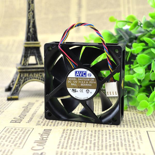 For original Taiwan AVC 7020 12V 0.30A double beads DA07020B12M 4-wire CPU cooling fan