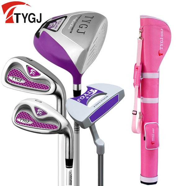 Brand TTYGJ 4-pieces Half Golf Clubs Set with Bag Women's Leaner Beginner golf clubs branded irons set