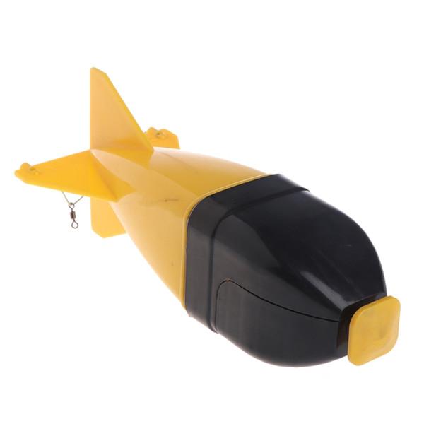Neue Karpfenangeln Köder Container Kunststoff Karpfen Locken Rocket Fish Feeder System Sling Sinking Für Fischfütterung