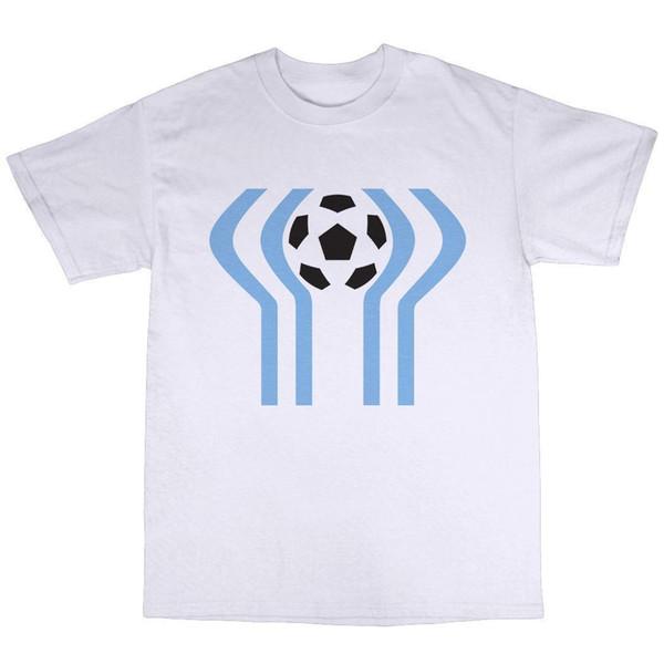 Argentina 1978 T-Shirt 100% Cotton 78 World Cup Retro Football Maradona Tee Shirt Men Brand Clothing White Short Sleeve Custom XXXL Family T