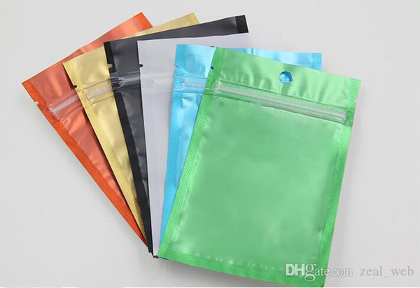 top popular One side clear colored Resealable Zip Mylar Bag Aluminum Foil Bags Smell Proof Pouches Jewelry bag 2019