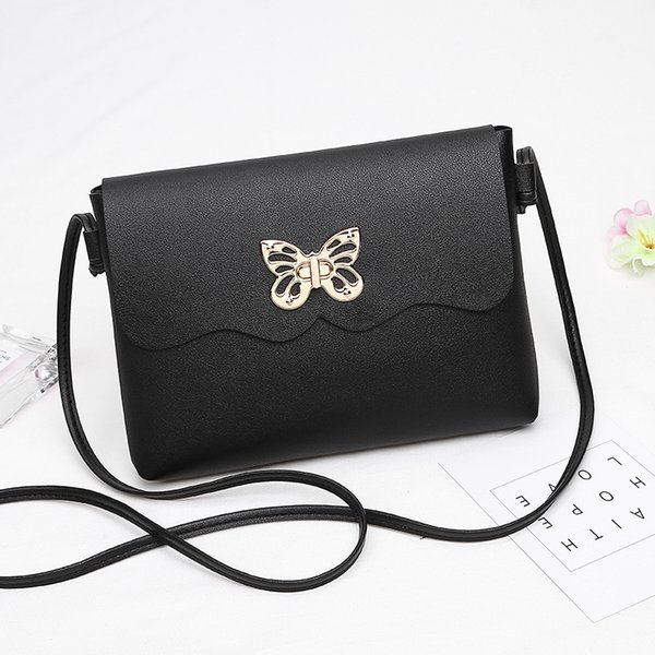 2018 New Small Women Messenger Bags Butterfly Lock Flap Handbag Women Bag Lady PU Leather Purse Cheap Crossbody Bags for Girls