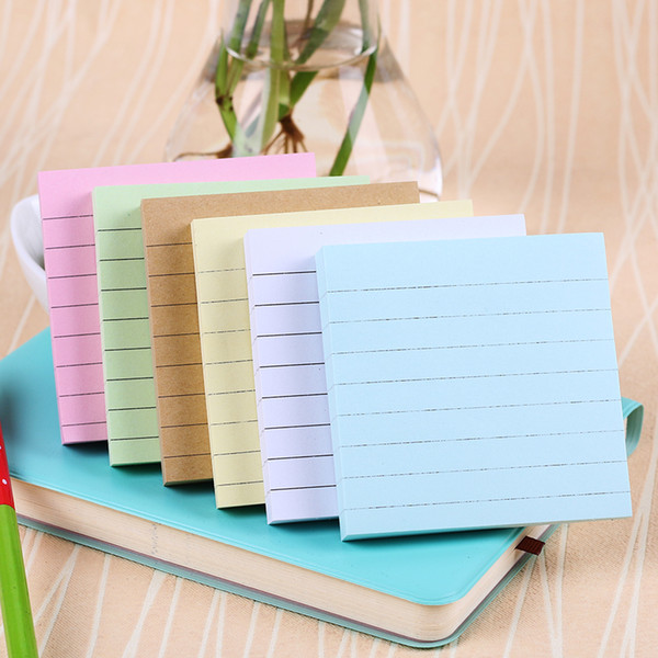 hot selling Office Stationery Sticky Notes Square Soild Color Memo Pad 80 Pages Sticker Bookmark Point It Marker Memo Sticker Paper