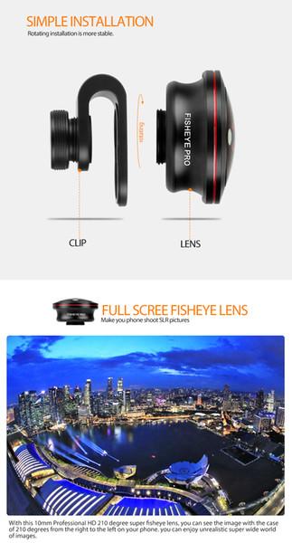 Amazon hot selling wholesale lower price goods 10MM fisheye lens PRO clip-on camera lenses mobile phone